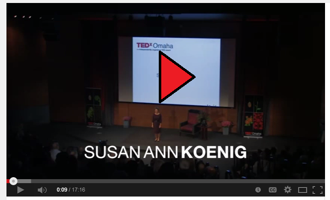 You Tube Video from TEDx Omaha - The Energy of Eulogy:  Susan Ann Koenig